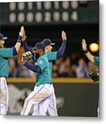 Texas Rangers V Seattle Mariners Metal Print