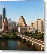 Texas Skyline During Golden Hour Metal Print