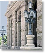 Texas State Capitol North Portico Metal Print