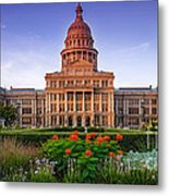 Texas State Capitol Summer Morning - Austin Texas Metal Print