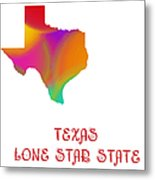 Texas State Map Collection 2 Metal Print