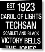 Texas Tech College Town Wall Art Metal Print