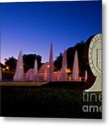 Texas Tech University Seal And Blue Sky Metal Print