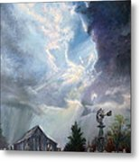 Texas Thunderstorm Metal Print