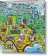 Texas Usa Metal Print