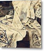 Textile Collection Metal Print