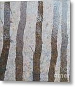 Textural Forest Metal Print