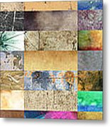 Texture Collage Metal Print