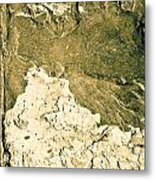 Texture No.2 Beige Version Metal Print