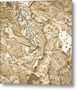 Texture No.6 Effect 2 Metal Print