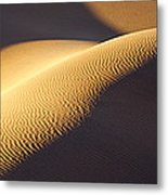 Texture Pattern On Sand Dunes Metal Print