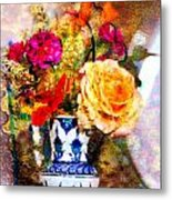 Textured Bouquet Metal Print