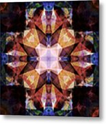 Textured Geometric Mandala Metal Print