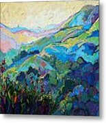 Textured Light Metal Print by Erin Hanson