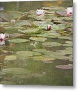 Textured Lilies Image  Metal Print