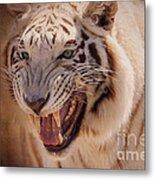 Textured Tiger Metal Print