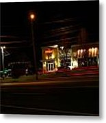 Tgi Fridays Car Lights Glow Metal Print