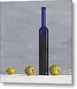 The Blue Bottle By David I. Jackson Metal Print