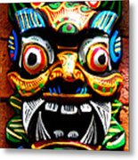 Thai Buddhist Mask Metal Print