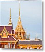Thai Construction Design. Metal Print by Vachiraphan Phangphan