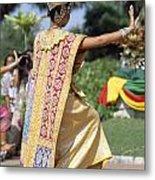 Thai Dancer At Loy Krathong Festival Metal Print