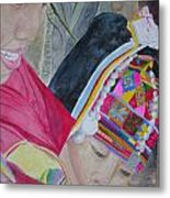 Thai Hill Tribe Metal Print