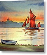 Thames Barge At Maldon Essex Metal Print