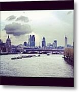 Thames View Metal Print by Maeve O Connell