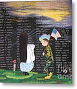 Thank You Again Hand Embroidery Metal Print
