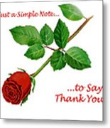 Thank You Card   Metal Print
