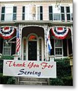 Thank You For Servinvg Metal Print