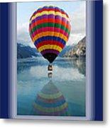 Thank You Hot Air Balloon In Alaska Metal Print