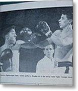 That Me Fighting Erving Nard In 1954 Metal Print