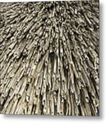 Thatch Metal Print by Peter Cassidy