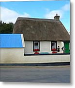 Thatched Metal Print