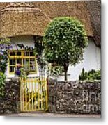 Thatched Cottage House Metal Print