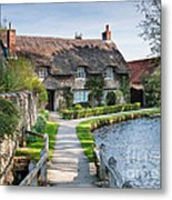 Thatched Cottage Thornton Le Dale Metal Print
