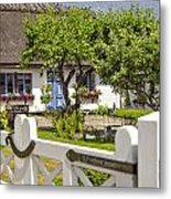 Thatched Roof Cottage Metal Print