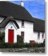 Thatched Roof House Metal Print