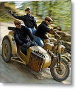 That's The Way To Ride An Army Bmw R75  Metal Print