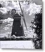 Thaxted Mill In Full Sail Metal Print