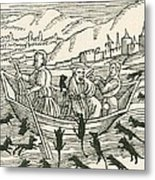 The 10th Century Folk Tale Of Hatto, Who Was The Archbishop Of Mainz, And What Happened Metal Print