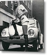 The 14 Millionth Volkswagen Beetle Given To The World Metal Print