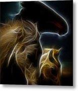 The 3 Shadow Horses Metal Print