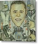 The 44th President And The Media Metal Print