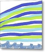 The Abstract Indian Wave Metal Print