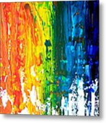 The Abstract Rainbow Beach Series I Metal Print