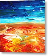 The Abstract Rainbow Beach Series II Metal Print