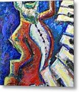 The Acid Jazz Jam Piano Metal Print