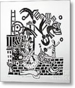 The Acrobats Metal Print by Barbara Sala